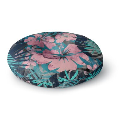 Cafelab Tropical Style Illustration Round Floor Pillow Size: 23 x 23
