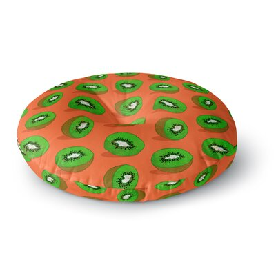 Evgenia Kiwifruit Round Floor Pillow Size: 26 x 26