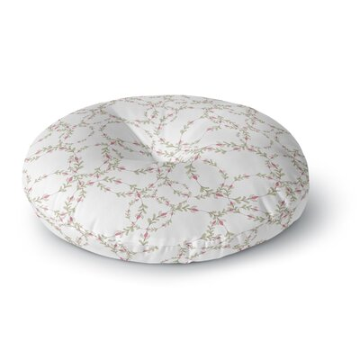 Emma Frances Ever Wreaths Round Floor Pillow Size: 26 x 26