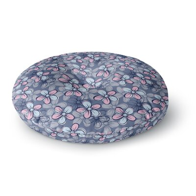 Emma Frances Flower Clusters Round Floor Pillow Size: 26 x 26