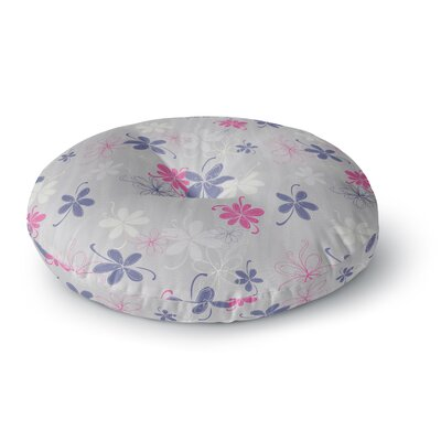 Emma Frances Lively Blossoms Round Floor Pillow Size: 23 x 23