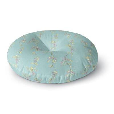 Emma Frances Falling Florals Round Floor Pillow Size: 26 x 26