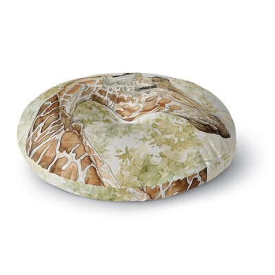 Wildlife Africa 2 Animals Round Floor Pillow Size: 26 x 26