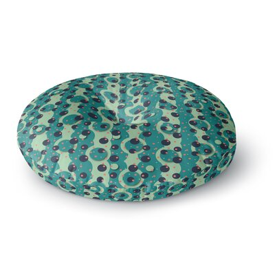 Akwaflorell Bubbles Made of Paper Round Floor Pillow Size: 23 x 23
