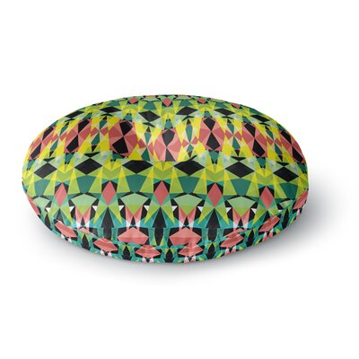 Akwaflorell T-Vision Round Floor Pillow Size: 23 x 23