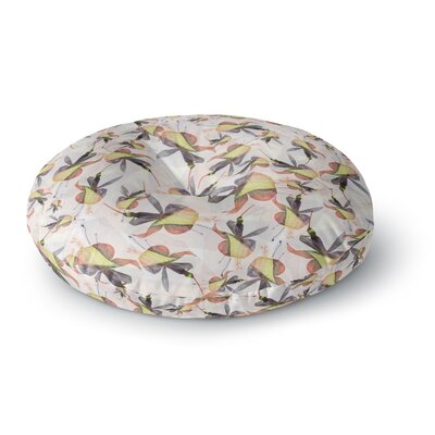 Akwaflorell Fuchsia on the Wind Round Floor Pillow Size: 23 x 23