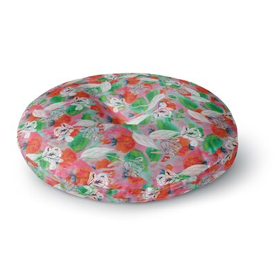 Akwaflorell Flying Tulips Round Floor Pillow Size: 26 x 26
