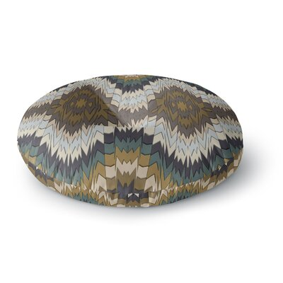 Akwaflorell Papercuts Geometric Round Floor Pillow Size: 26 x 26