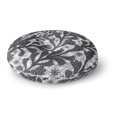 Akwaflorell Snow Houses Abstract Round Floor Pillow Size: 26 x 26