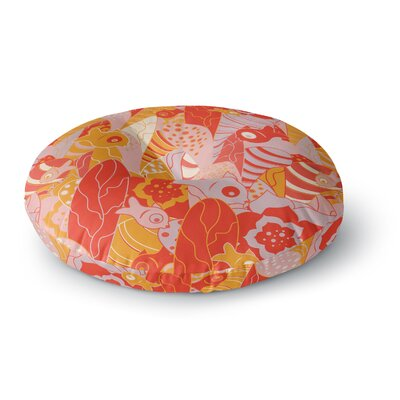 Akwaflorell Fishes Here, Fishes There Round Floor Pillow Size: 23 x 23