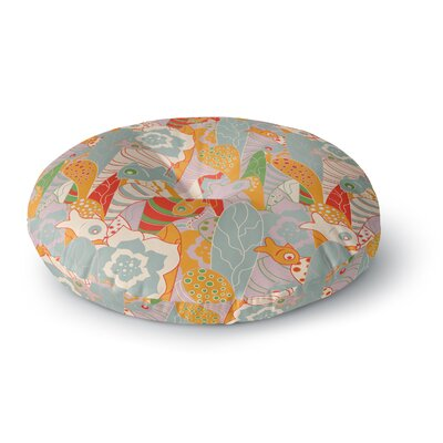 Akwaflorell Fishes Here, Fishes There II Round Floor Pillow Size: 26 x 26