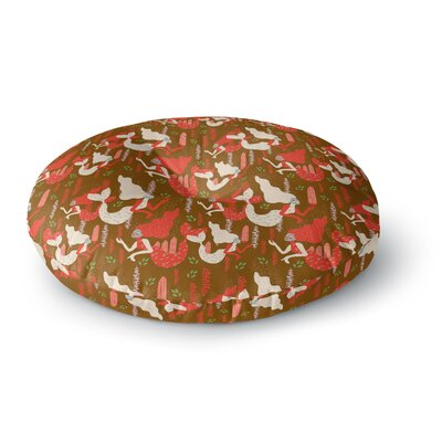 Akwaflorell Mermaids Round Floor Pillow Size: 23 x 23