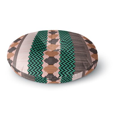 Akwaflorell Knitted 3 Round Floor Pillow Size: 23 x 23, Color: Green/Black