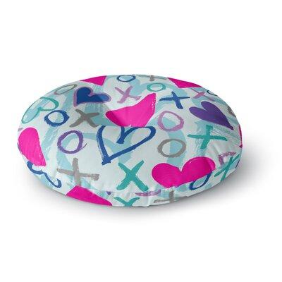 Emine Ortega Hearts a Flutter Round Floor Pillow Size: 26 x 26