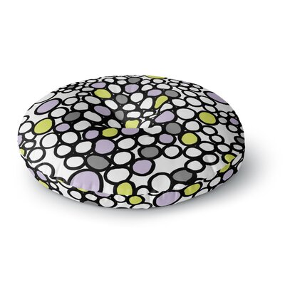 Emine Ortega Pebbles Round Floor Pillow Size: 23 x 23, Color: Lilac