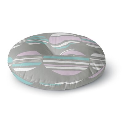 Emine Ortega Retro Circles Cobalt Round Floor Pillow Size: 26 x 26, Color: Pastel