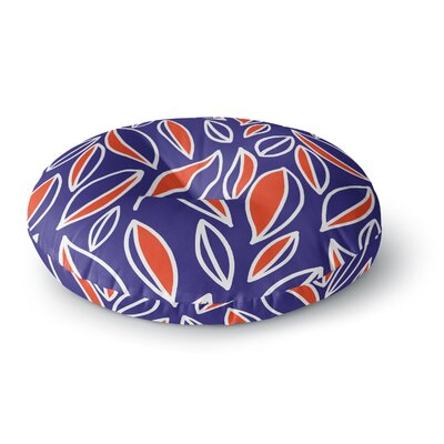Emine Ortega Leaving Round Floor Pillow Size: 23 x 23, Color: Orange