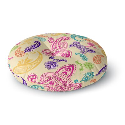 Emine Ortega Namaste Floral Abstract Round Floor Pillow Size: 26 x 26