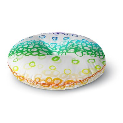Emine Ortega Pebble Row Round Floor Pillow Size: 26 x 26