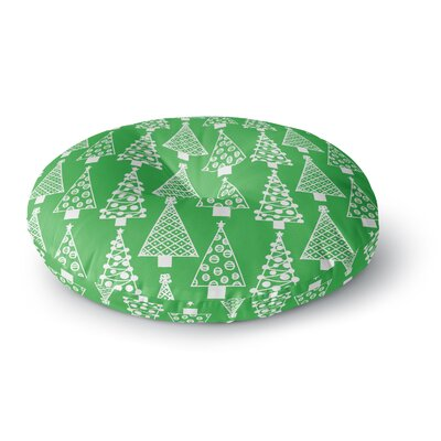 Emine Ortega Jolly Trees Royal Round Floor Pillow Size: 23 x 23, Color: Green