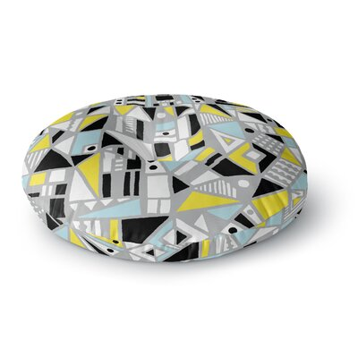Emine Ortega Fun Geo Too Round Floor Pillow Size: 23 x 23