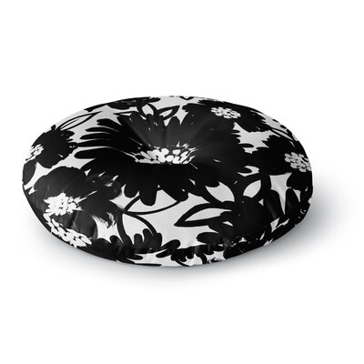 Emine Ortega Monochromatic Blooms Round Floor Pillow Size: 23 x 23