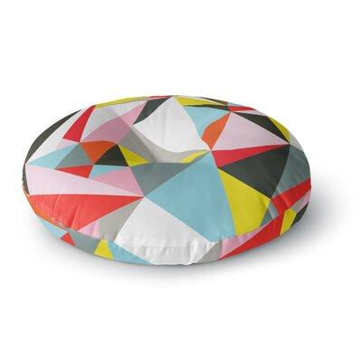 Fimbis Mosaik Geometric Round Floor Pillow Size: 26 x 26
