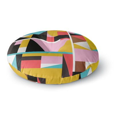 Fimbis Kaku to Abstract Geometric Round Floor Pillow Size: 26 x 26