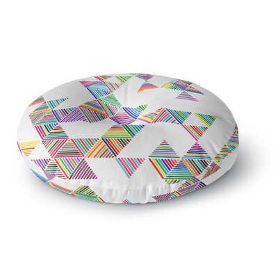Fimbis Rainbow Rain Round Floor Pillow Size: 26 x 26