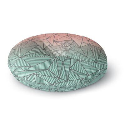 Fimbis Bodhi Rays Geometric Illustration Round Floor Pillow Size: 23 x 23