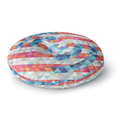 Fimbis Abstract America Digital Round Floor Pillow Size: 26 x 26