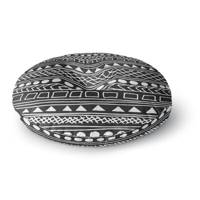 Fimbis Redefined BW Round Floor Pillow Size: 23 x 23