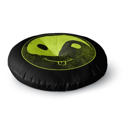 Frederic Levy-Hadida Bad Ass Ying Yang Round Floor Pillow Size: 23 x 23