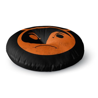 Frederic Levy-Hadida Yin Yang Diablo Round Floor Pillow Size: 23 x 23