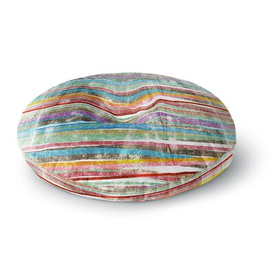 Frederic Levy-Hadida Fancy Stripes Round Floor Pillow Size: 23 x 23, Color: Brown