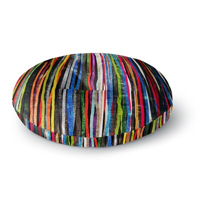 Frederic Levy-Hadida Fancy Stripes Dark Round Floor Pillow Size: 23 x 23