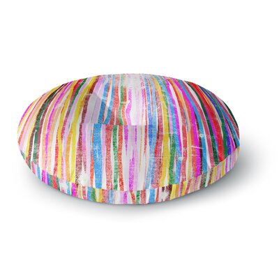 Frederic Levy-Hadida Fancy Stripes Round Floor Pillow Size: 23 x 23, Color: Pastel