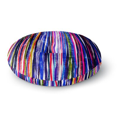Frederic Levy-Hadida Fancy Stripes Round Floor Pillow Size: 26 x 26, Color: Purple