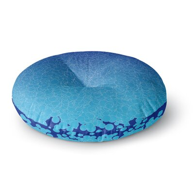 Frederic Levy-Hadida Bubbling Round Floor Pillow Size: 26 x 26, Color: Blue