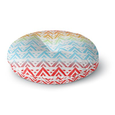 Frederic Levy-Hadida Antilops Pattern Chevron Round Floor Pillow Size: 26 x 26