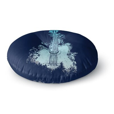Frederic Levy-Hadida Tune Round Floor Pillow Size: 26 x 26, Color: Blue/Aqua
