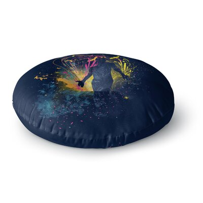 Frederic Levy-Hadida the Birds Master Round Floor Pillow Size: 23 x 23