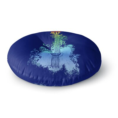Frederic Levy-Hadida Tune Round Floor Pillow Size: 26 x 26, Color: Blue/Yellow/Green