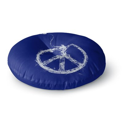 Frederic Levy-Hadida Bird Sewing Peace Round Floor Pillow Size: 26 x 26