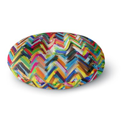 Frederic Levy-Hadida Chevrons Rainbow Round Floor Pillow Size: 23 x 23