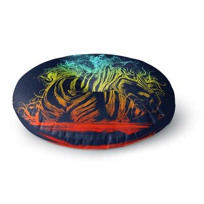 Frederic Levy-Hadida Wild Rainbow Zebra Round Floor Pillow Size: 26 x 26