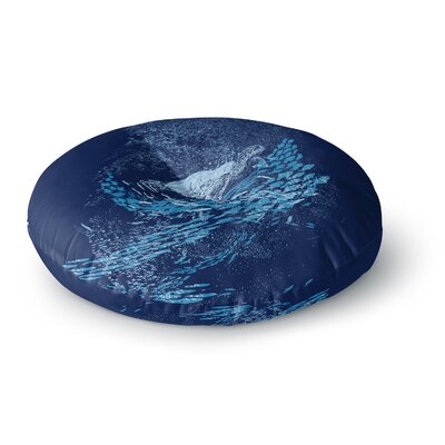 Frederic Levy-Hadida the Turtle Way Round Floor Pillow Size: 23 x 23