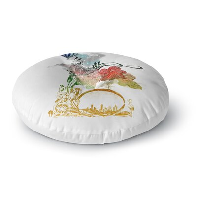 Frederic Levy-Hadida A Little Paradise Round Floor Pillow Size: 26 x 26