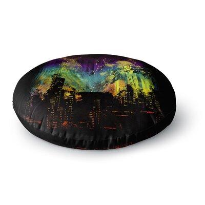 Federic Levy-Hadida City Grid RainbowRound Floor Pillow Size: 23 x 23