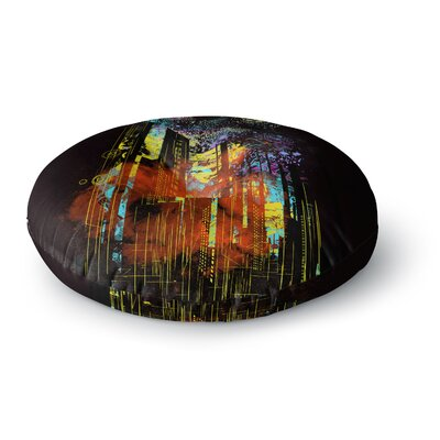 Federic Levy-Hadida Starry City Lights Rainbow Round Floor Pillow Size: 23 x 23